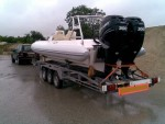 A 10m Wahoo Rib with two 300's on the back was safely transported from the manufacturer to the delighted customer. - click to enlarge