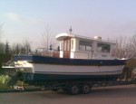 Towing service was provided to move this Hardy 24 fishing boat. - click to enlarge