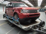 A Range Rover car being transported from Southampton docks to London  - click to enlarge